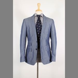 John Varvatos 38R Blue Sport Coat B181